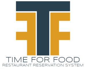 Time For Food Restaurant Reservation System Logo